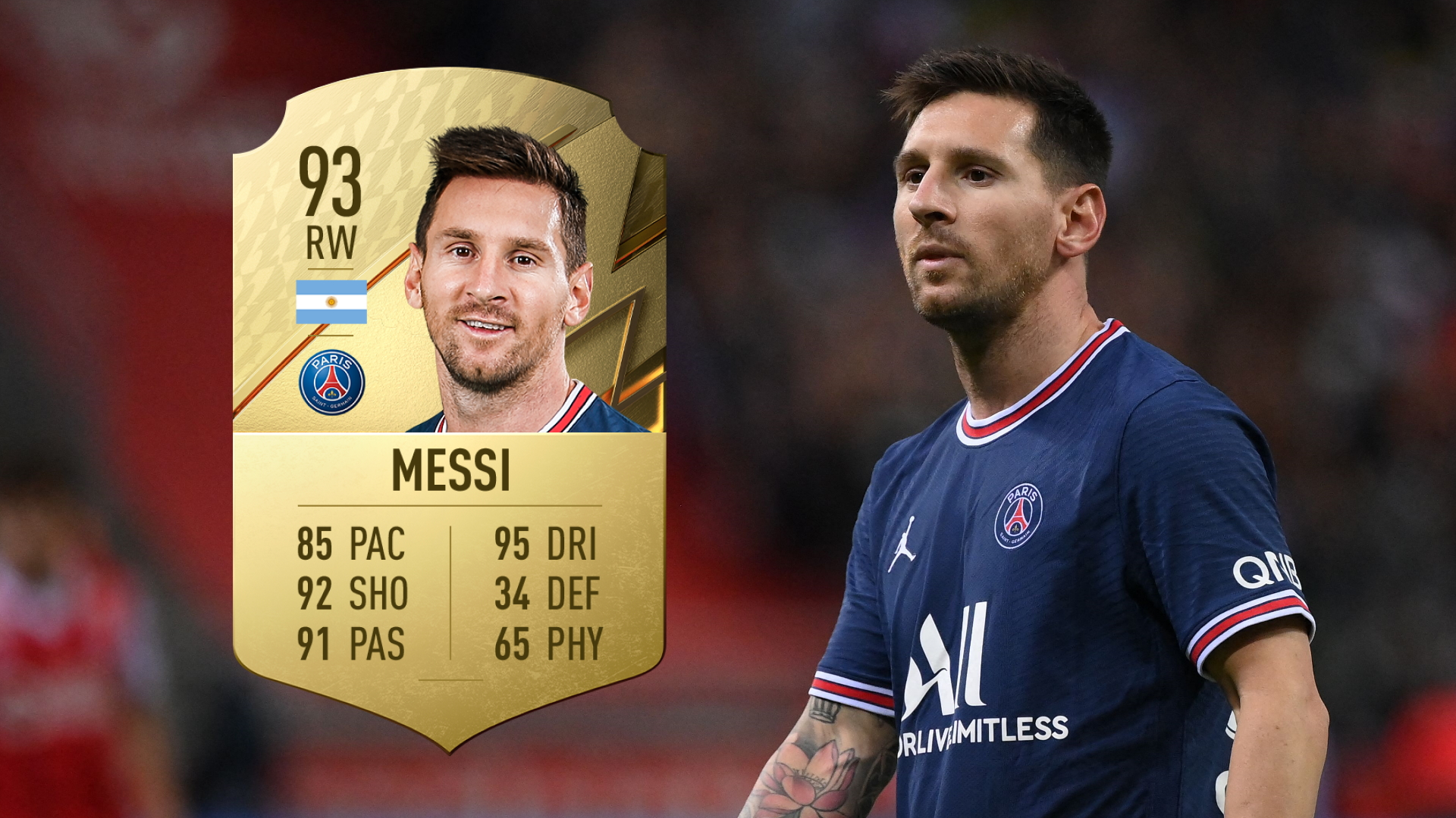 FIFA 22: Messi confirmed as highest rated player as PSG star edges Ronaldo to top spot