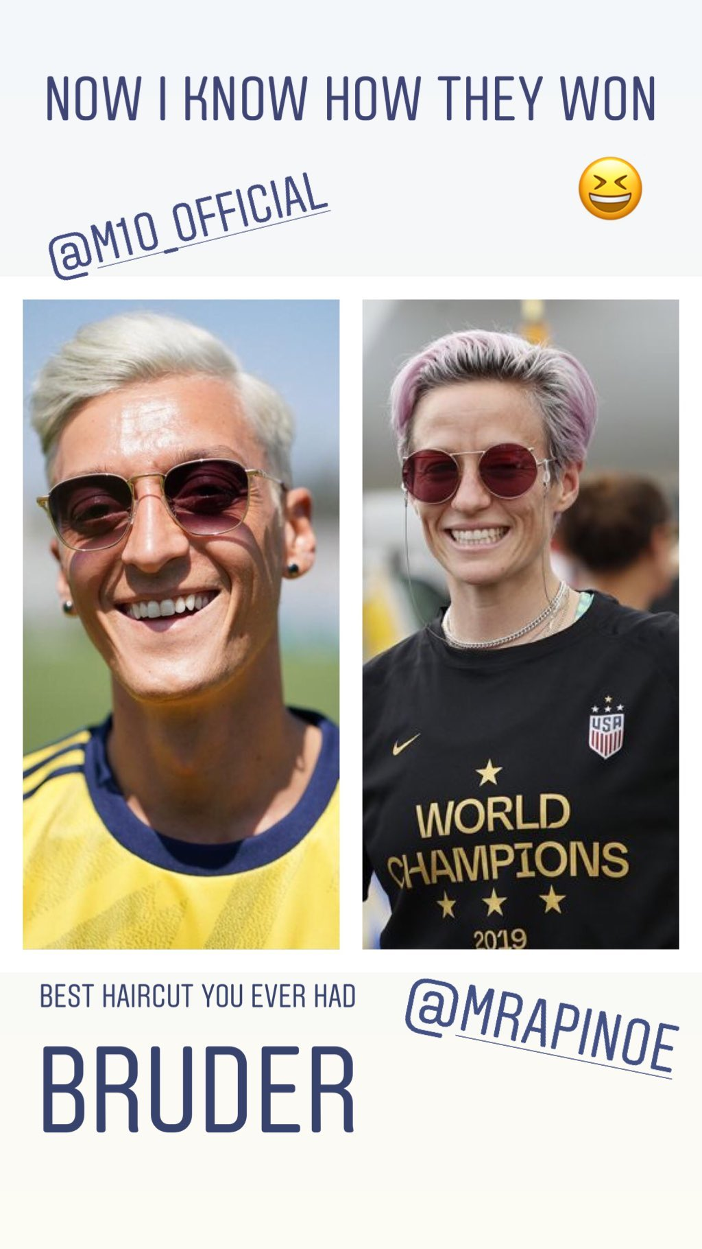 Mesut Ozil Megan Rapinoe