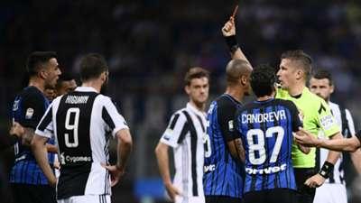 Matias Vecino sent off Inter Juventus Serie A 04282018