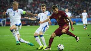 Fedor Smolov Russia Slovakia Group B Euro 2016