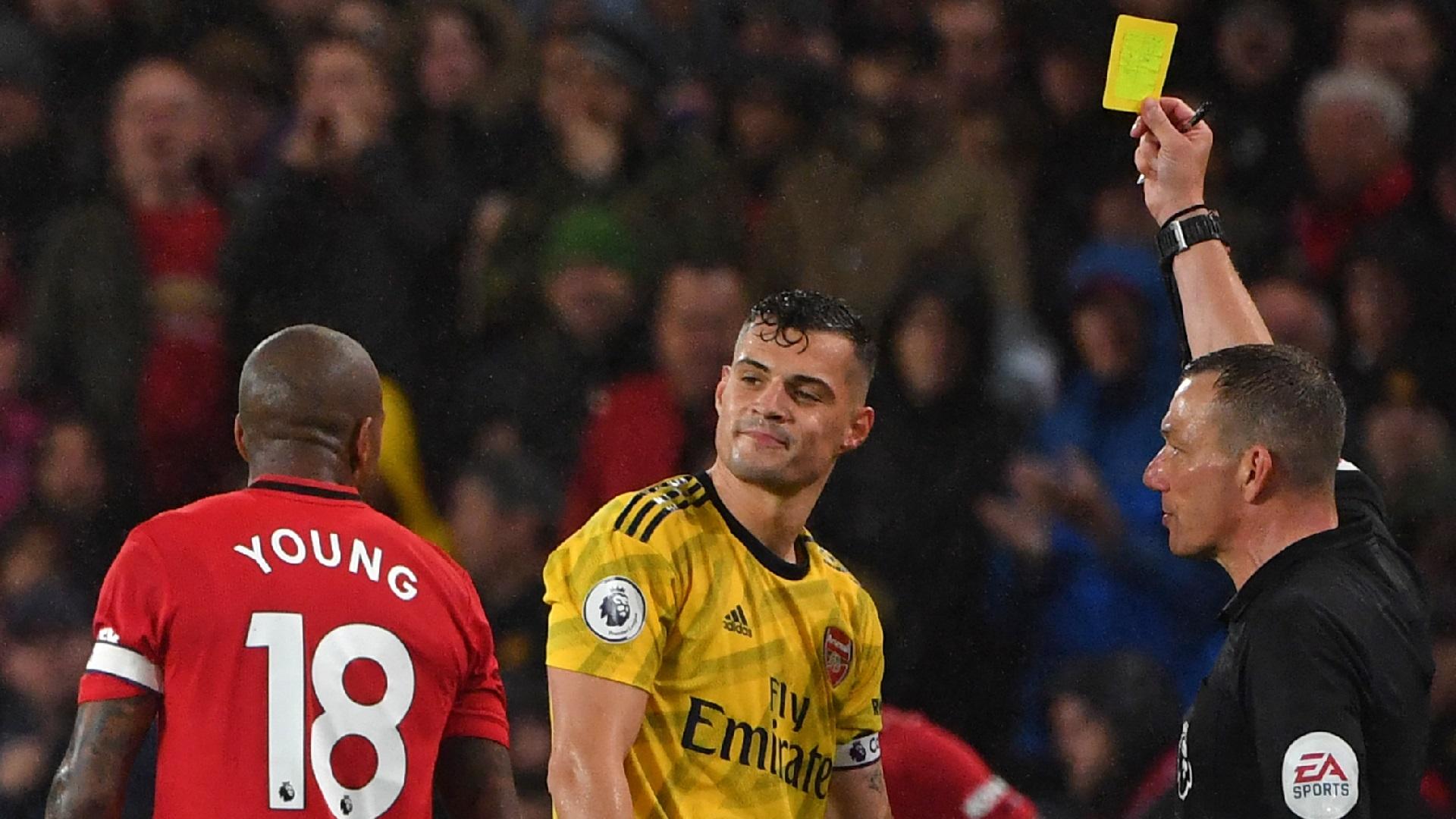 Ashley Young Granit Xhaka Manchester United Arsenal 2019-20