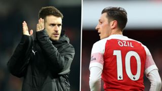 Aaron Ramsey Mesut Ozil Arsenal
