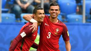 Cristiano Ronaldo Pepe Portugal Confederations Cup 2017