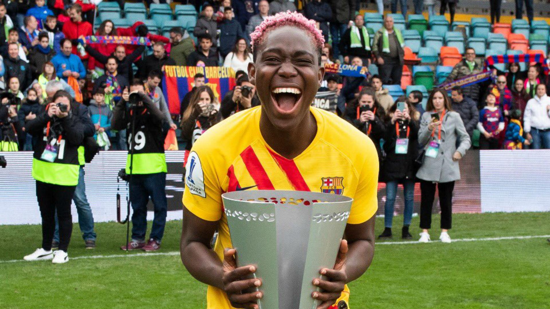 'We made it!' - Oshoala celebrates maiden Spanish Primera Iberdrola title with Barcelona
