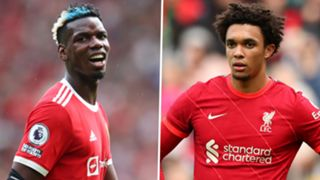 Paul Pogba Manchester United Trent Alexander-Arnold Liverpool 2021-22