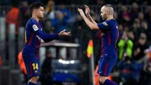 Philippe Coutinho Andres Iniesta Barcelona Copa del Rey