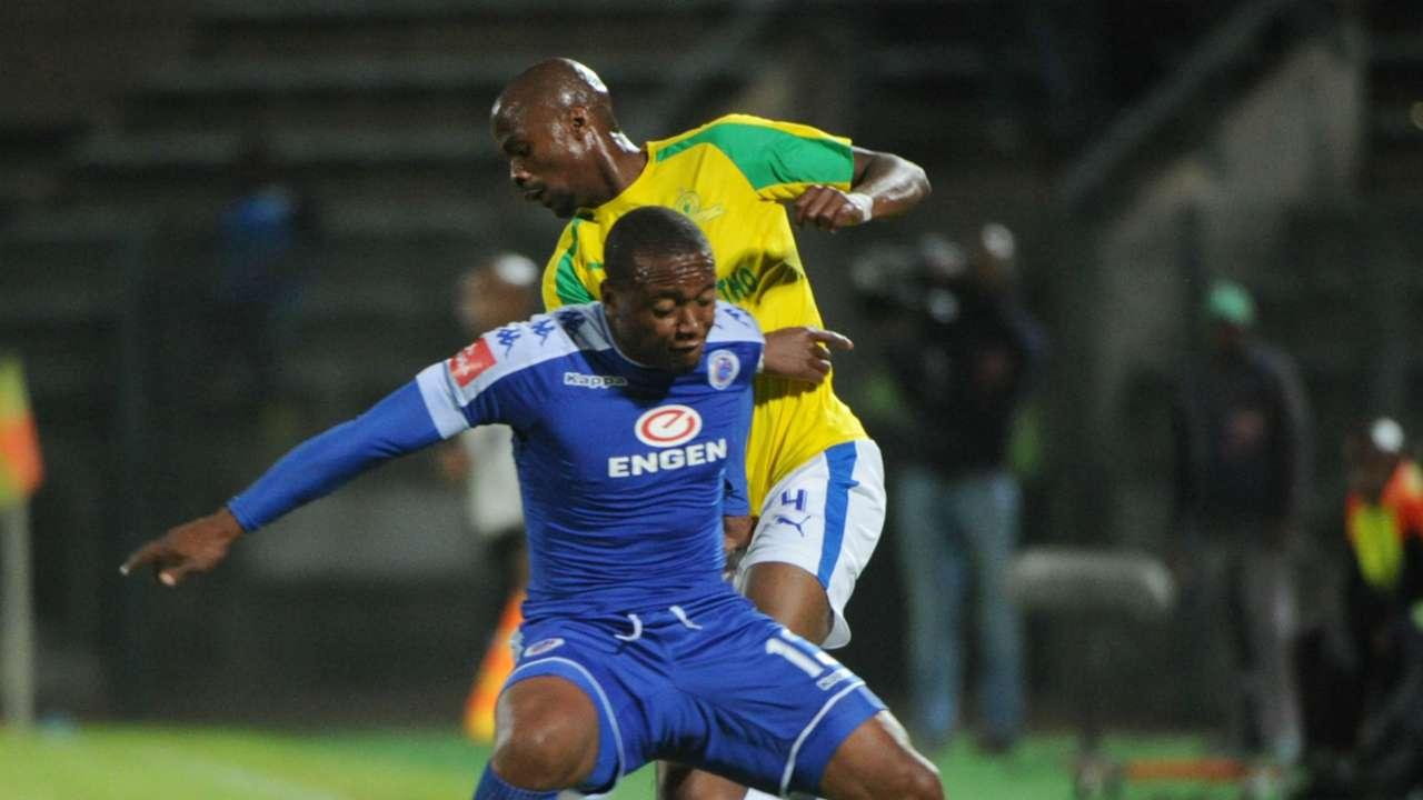 Tebogo Langerman and Thuso Phala - SuperSport United v Sundowns