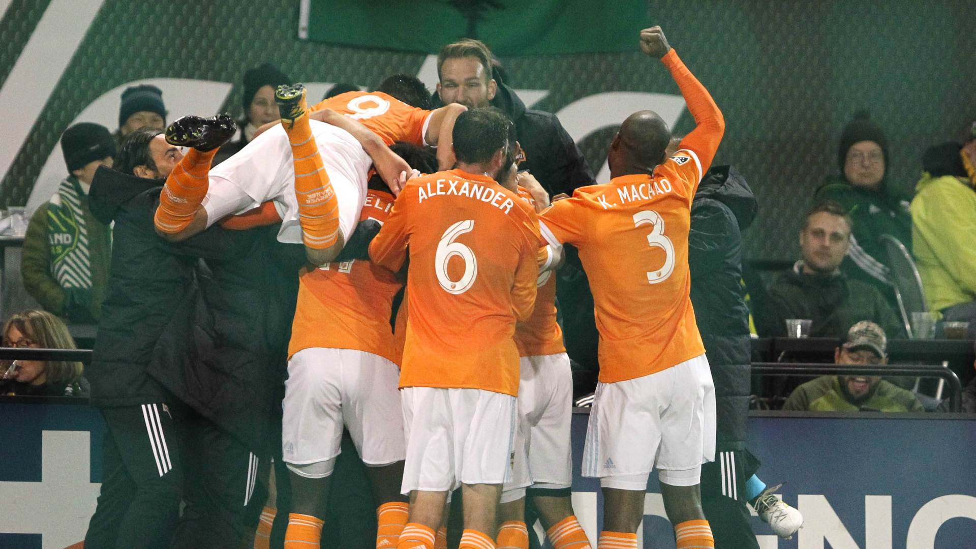 Eric Alexander Adolfo Machado Erick Torres Houston Dynamo Portland Timbers
