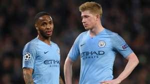 Raheem Sterling Kevin De Bruyne Manchester City 2018-19