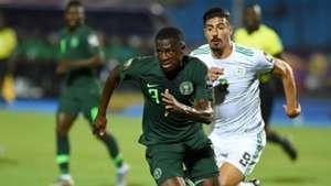Jamilu Collins, Baghdad Bounedjah - Algeria vs Nigeria