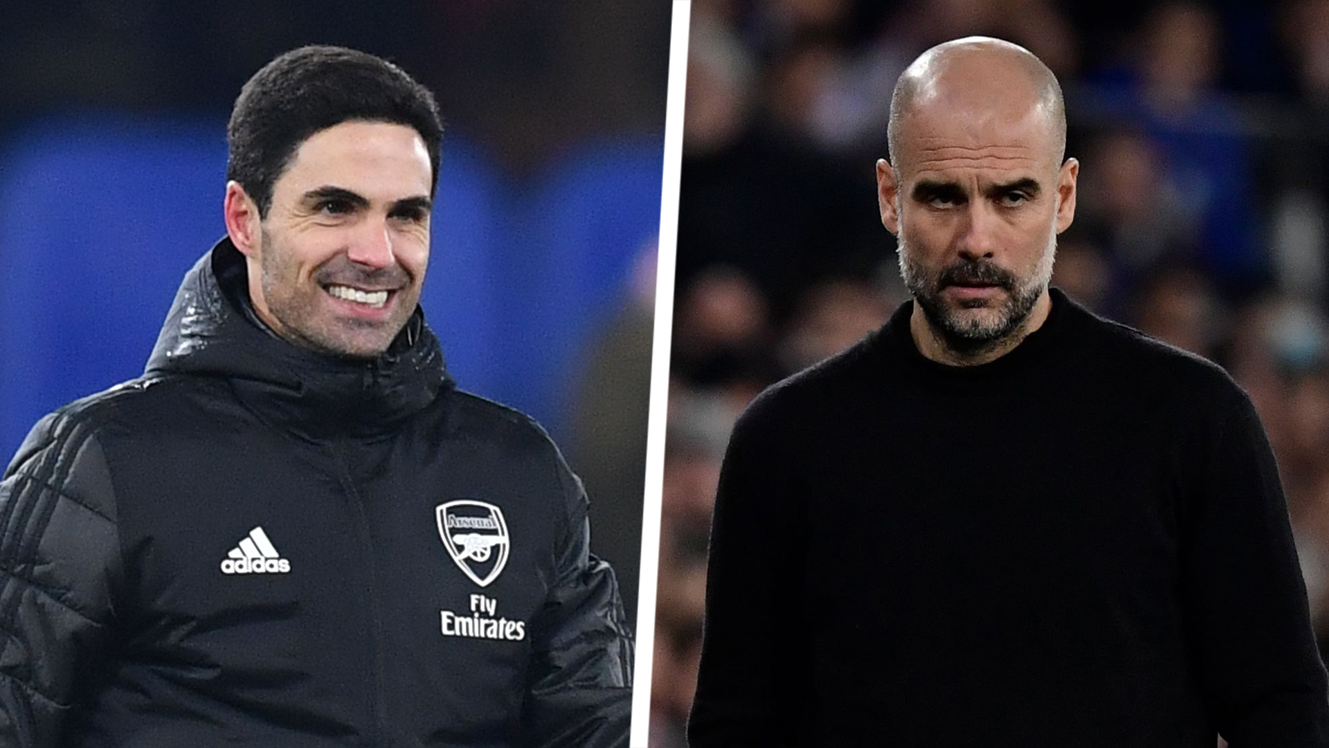Pep Guardiola and Mikel Arteta