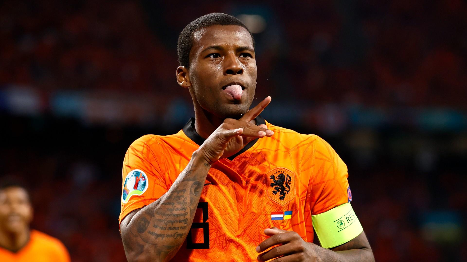 Wijnaldum explains stealing Van Dijk celebration as Liverpool defender sets goal target for Netherlands captain