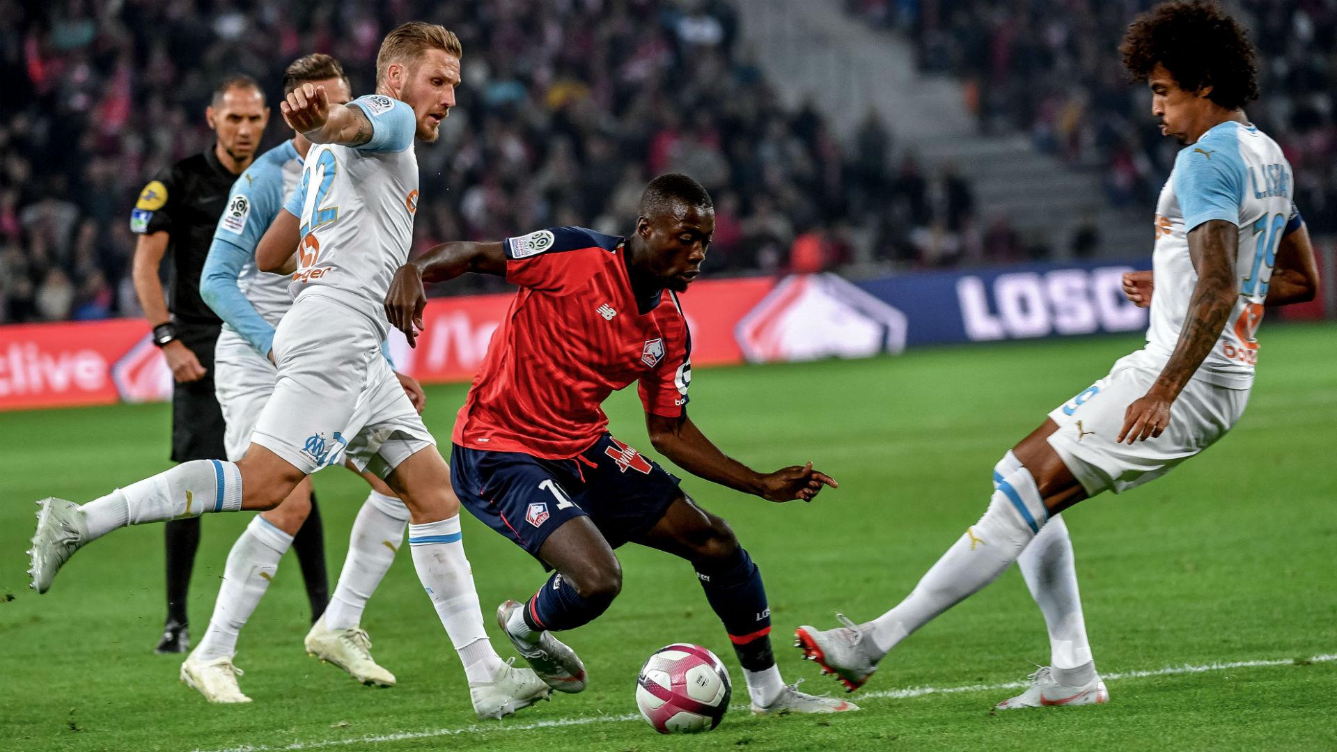 Luiz Gustavo Nicolas Pepe Lille Marseille Ligue 1 30092018