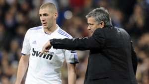 Karim Benzema Jose Mourinho Real Madrid