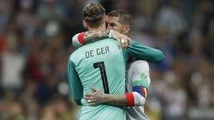 David de Gea Sergio Ramos Spain Portugal World Cup 2018