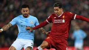 Roberto Firmino Kyle Walker Liverpool Manchester City
