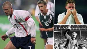 England Germany David Beckham Paul Gascoigne Bobby Moore