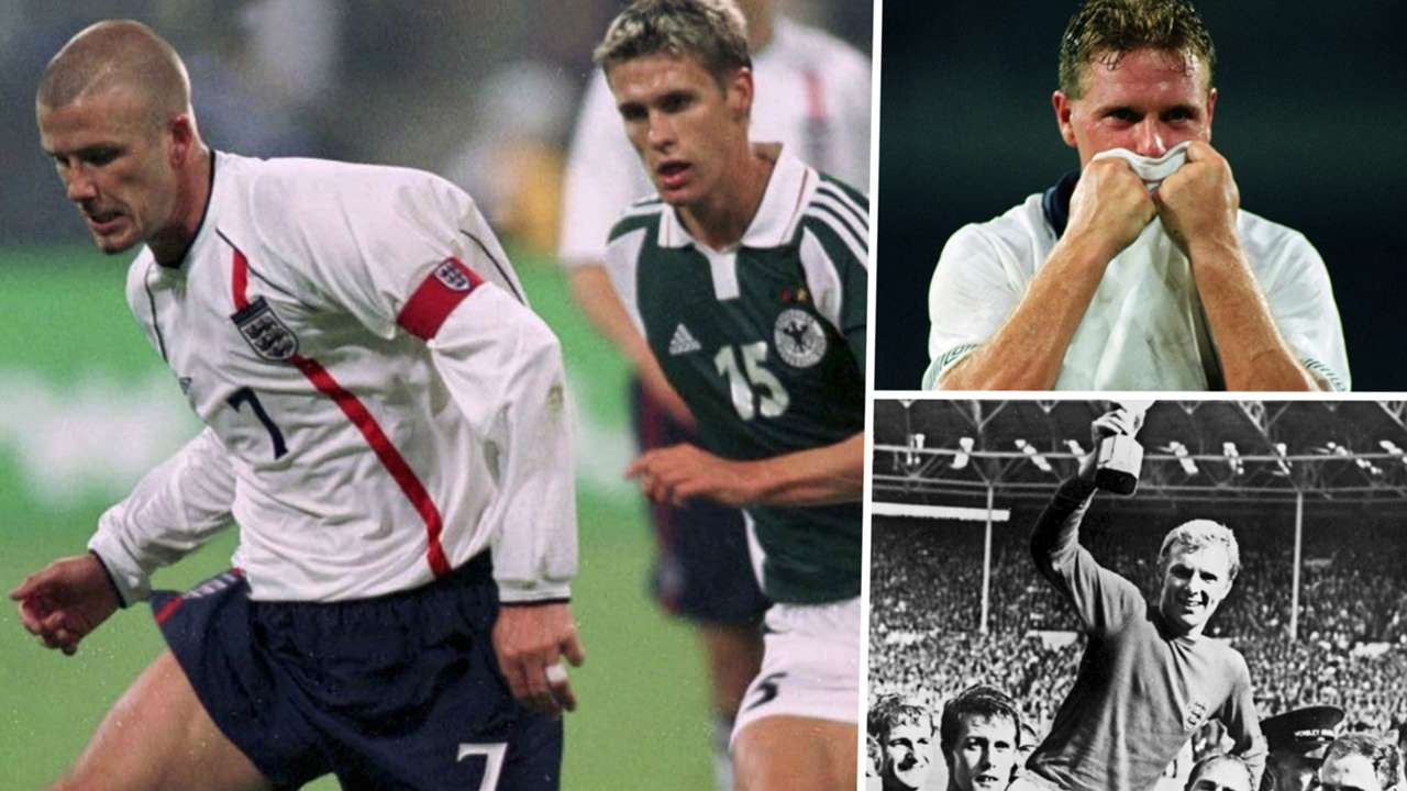 England Germany David Beckham Paul Gascoigne Bobby Moore