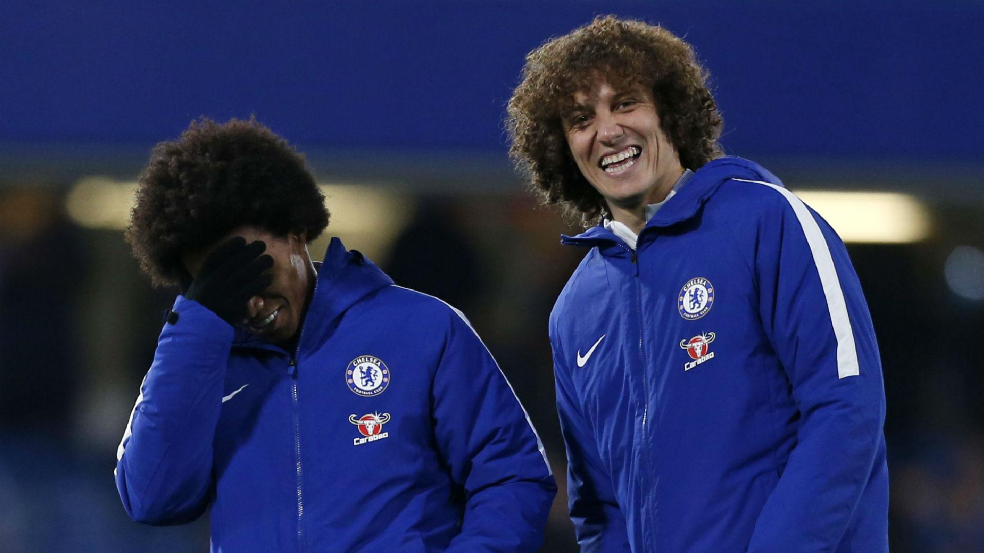 Willian David Luiz Chelsea