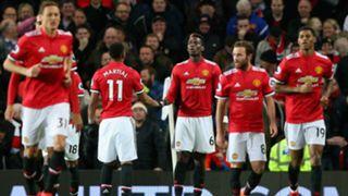 Manchester United celebrate vs Newcastle