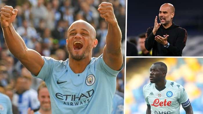 Vincent Kompany Pep Guardiola Kalidou Koulibaly Manchester City GFX