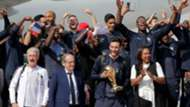 Arrival of french players Paris France 16072018