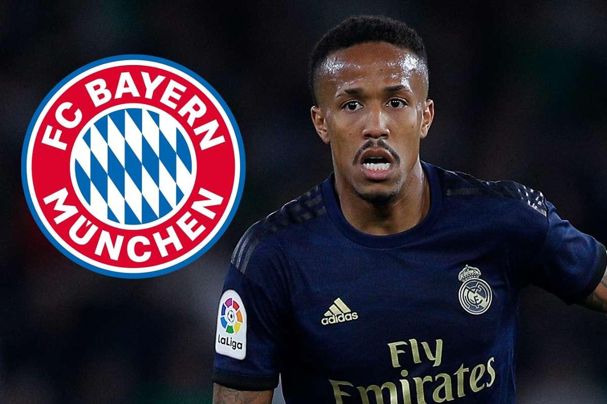 Eder Militao, Real Madrid, Bayern Munich badge