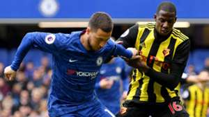 Eden Hazard, Abdoulaye Doucoure, Chelsea vs Watford