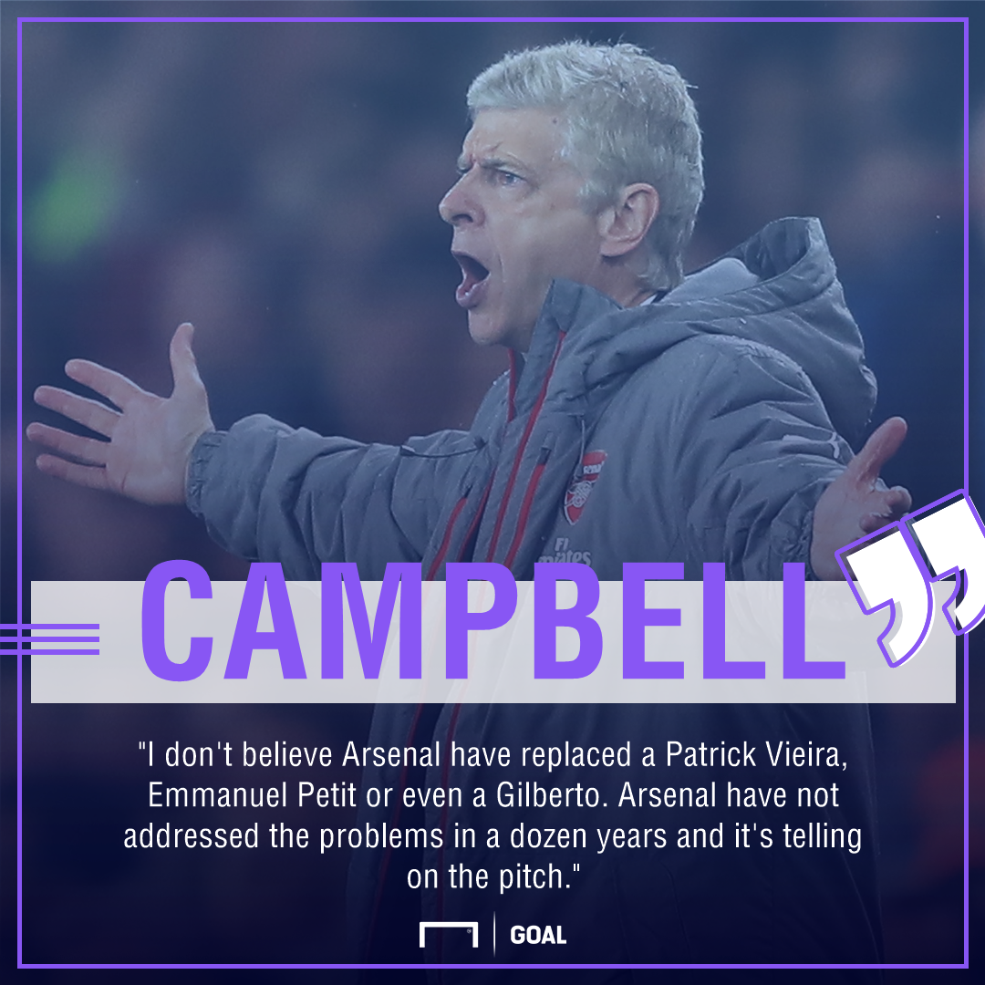 Arsene Wenger Kevin Campbell dozen years of issues
