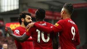 Mohamed Salah Sadio Mane Roberto Firmino Liverpool 2019-20