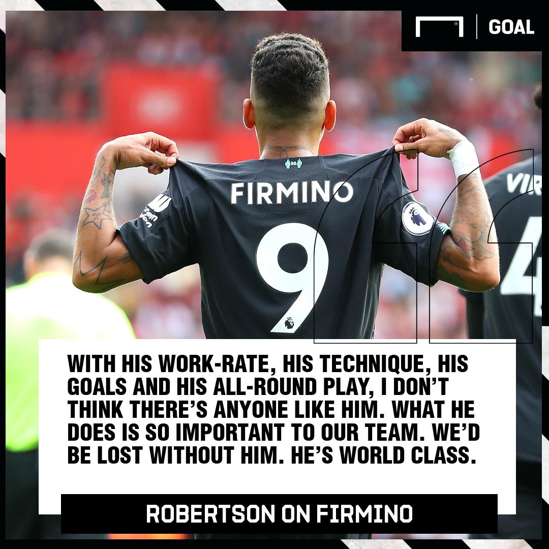 Andy Robertson on Roberto Firmino 2019