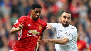 Marcus Rashford Manchester United Leon Britton Swansea