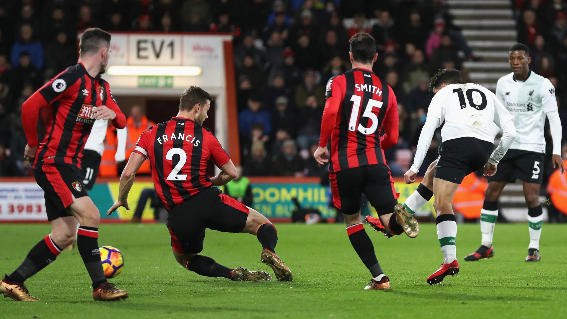 Coutinho goal Bournemouth