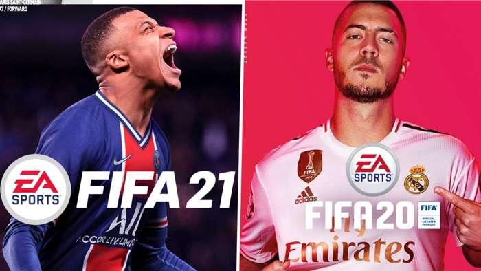 FIFA 21 FIFA 20 Kylian Mbappe Eden Hazard