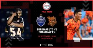 PREVIEW TOYOTA LEAGUE CUP : บุรีรัมย์ ยูไนเต็ด- พีที ประจวบฯ (รอบชิงชนะเลิศ)