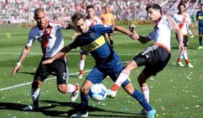 Agustin Bouzat Jonatan Maidana Ignacio Nacho Fernandez Boca Juniors River Plate 02092017