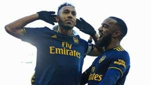 Pierre-Emerick Aubameyang Alexandre Lacazette Arsenal 2019-20