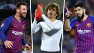 Lionel Messi Antoine Griezmann Luis Suarez Barcelona