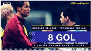 Cristiano Ronaldo Lionel Messi 8 World Cup (Clear for Turkey)