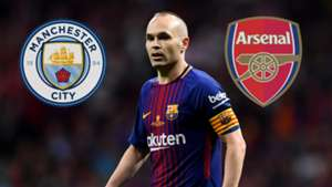 Andres Iniesta Man City Arsenal GFX