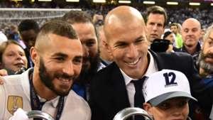 Karim Benzema Zinedine Zidane Real Madrid