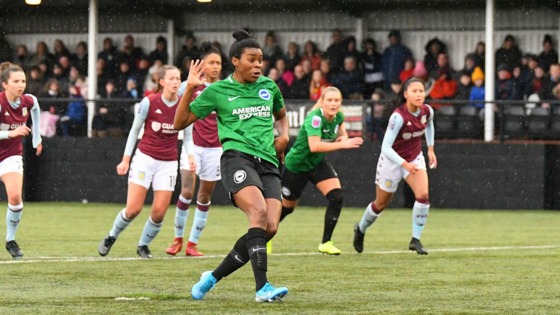Nigeria striker Umotong leads Brighton past Aston Villa in Women's FA Cup