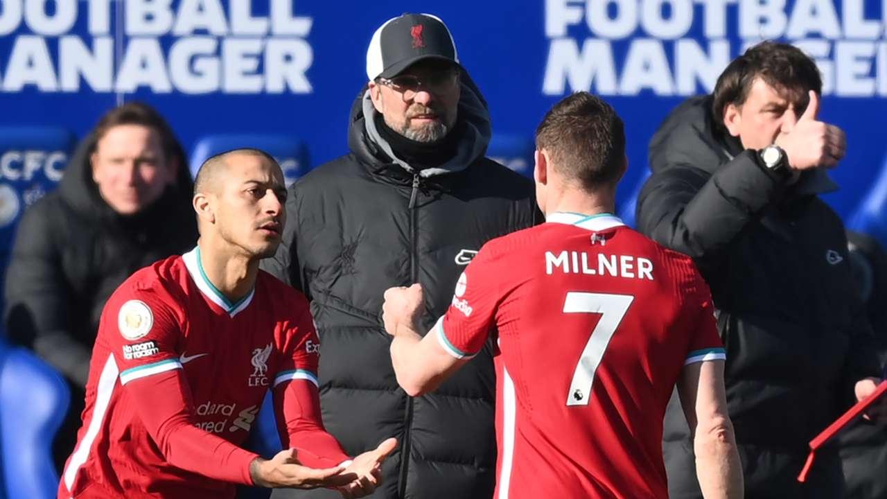 Thiago Alcantara James Milner Liverpool 2020-21