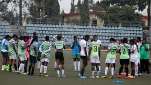 Super Falcons' final training for Algeria clash