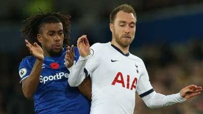 Alex Iwobi Christian Eriksen Everton vs Tottenham 2019-20