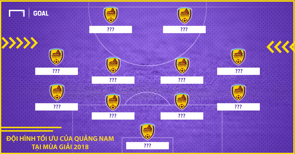 Dự đoán đội hình Quảng Nam tại V.League 2018