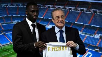 Ferland Mendy y Florentino Pérez