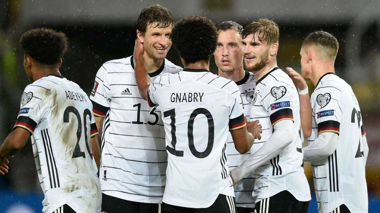Germany celebrate win over North Macedonia