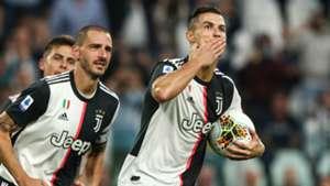 Cristiano Ronaldo Leonardo Bonucci Juventus Verona