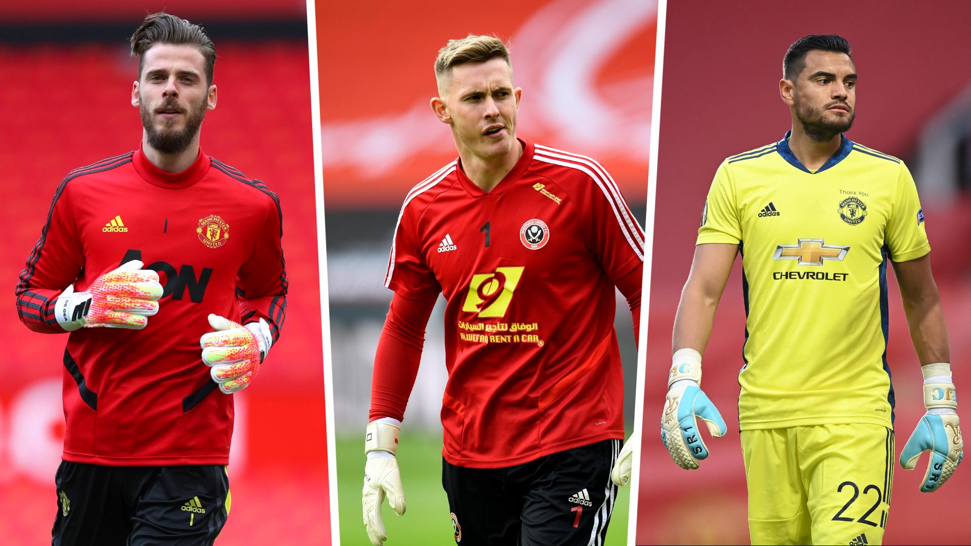 Stávající trojice brankářů v kádru Manchesteru United